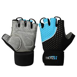 iiSPORT Weightlifting Gloves with Wrist Support, Anti-Slip P
