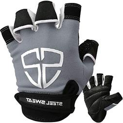 Steel Sweat Workout Gloves - Best for Gym, Weightlifting, Fi