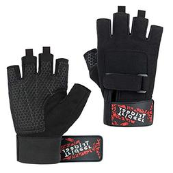 Trideer Workout Gloves, Full Palm Protection & Extra Grip,Ro