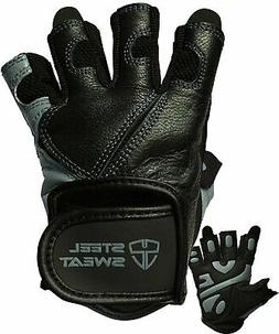 Steel Sweat Workout Gloves - Best for Weightlifting Gym Fitn