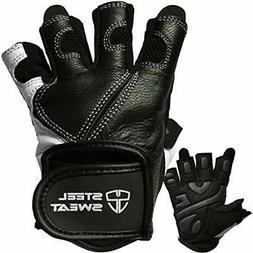 Steel Sweat Workout Gloves - Best for Weightlifting Gym