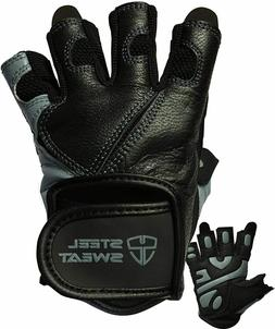 Steel Sweat Workout Gloves for Weightlifting Gym Fitness Tra