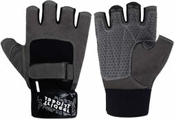 Trideer Workout Gloves, Full Palm Protection & Extra Grip, G