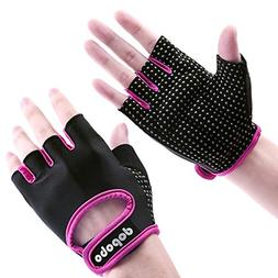 Dopobo Workout Gloves, Weight Lifting Gloves: Women Half Fin