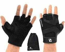 ProFitness Workout Weight Lifting Gloves W/Silicone Non-Slip