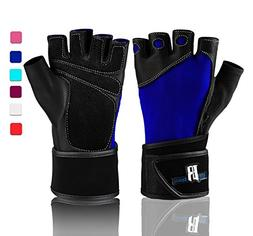 RIMSports Wrist Wrap Gloves for Gym Workout - Premium Weight