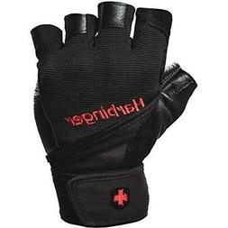 Wrist Wrap Vented Cushioned Leather Palm Weightlifting Glove