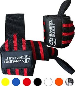 Steel Sweat Wrist Wraps Best for Weight Lifting, Powerliftin