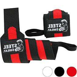 Steel Sweat Wrist Wraps - Best for Weight Lifting, Powerlift