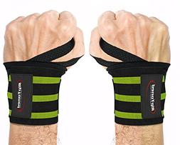 """Wrist Wraps By Rip Toned - 18"""" Professional Grade With Thumb"""