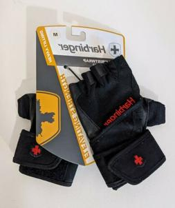 Harbinger 140 Leather Gloves Palm Ventilated Pro Wrist wrap