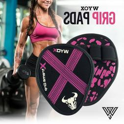 WYOX Hand Grip Weight Lifting Pads Workout Gloves Gym Fitnes